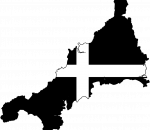 Cornwall Flag In Map